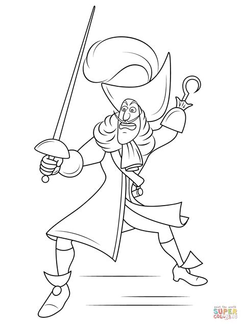 captain hook coloring pages    print
