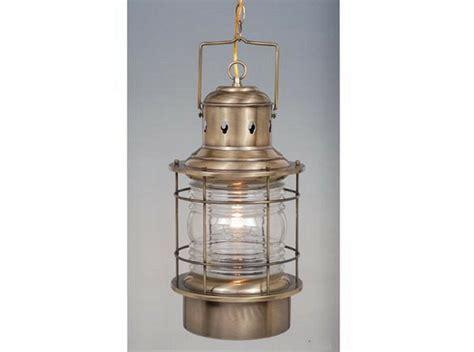 antique brass  clear glass exterior hanging light