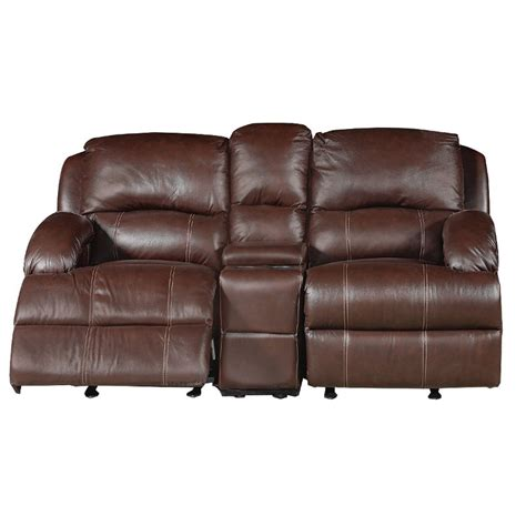 Brown Reclining Loveseat by Ashton 75 Quot Brown Leather Reclining Loveseat