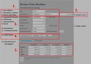 Lohnsteuer Berechnen 2016 : brutto netto rechner gehalt einfach online berechnen 2017 ~ Themetempest.com Abrechnung