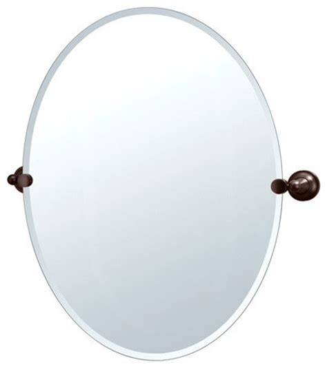 Tilting Bathroom Mirror Bronze by Gatco Tiara Collection Large Oval Tilting Wall Mirror
