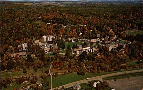 aerial view houghton college campus  york