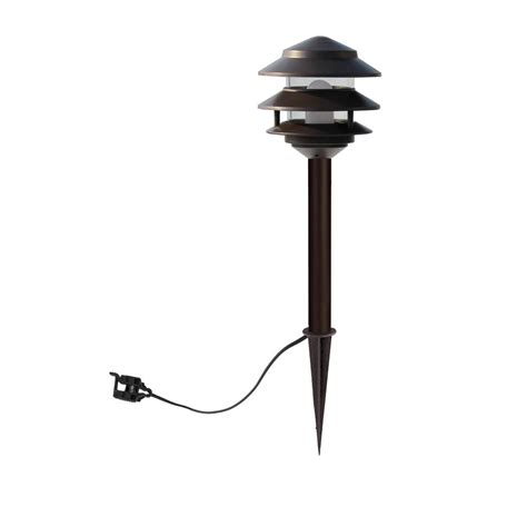 low voltage landscape lighting led allen roth 4 pk led 4