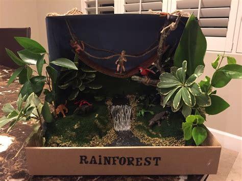 rainforest shoebox diorama rainforest diorama tropical