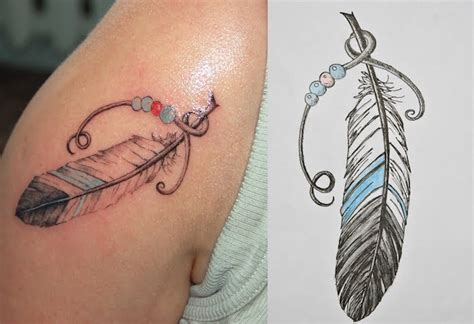 significations  designs du tatouage plume