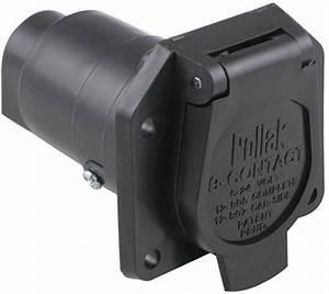 Pollak 9-pole  Round Pin Trailer Socket