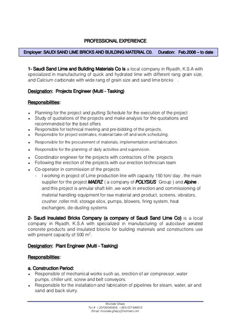 building engineer resume templates mechanical engineer cv