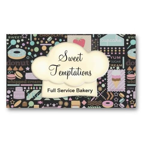 sweet temptations bakery boutique business card zazzle