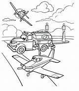 Garage Coloring Pages Pixar Planes Getcolorings Cars Printable sketch template