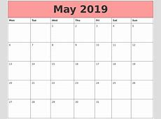 May 2019 Calendars That Work