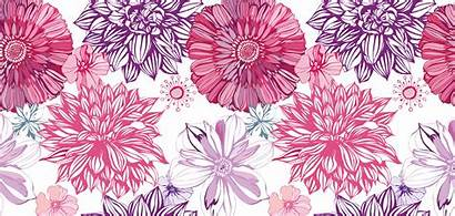 Patterns Flower Backgrounds Drawing Texture Surface Wallpapers