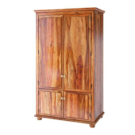 Wood Armoire Closet by Pecos Mission Solid Wood Armoire Closet