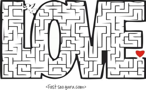 printable valentines day mazes puzzles worksheets printable coloring pages for