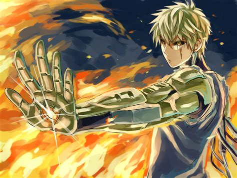 punch man genos fanart pictures cinema wallpaper p