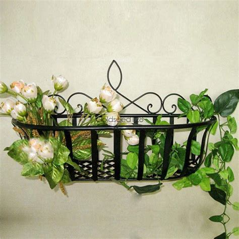 Wall Planter Box by Wrought Iron Window Planter Box Wall Plant Garden Holder