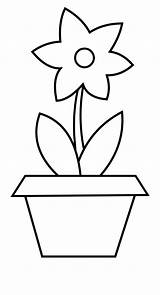 Pot Flower Plant Colouring Clipart Outlines Vippng Ai Downloads Resolution Kb Views Format sketch template