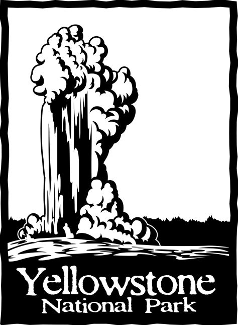 coloring book yellowstone national park  national
