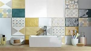 Agréable Mosaique Adhesive Pour Salle De Bain #6 Frise Carrelage Salle De Bain Castorama