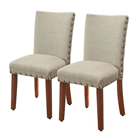 burlap dining chairs kinfine parsons textured nail dining chair burlap 1877