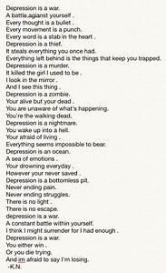A poem I wrote about depression. Feedback? #depression # ...