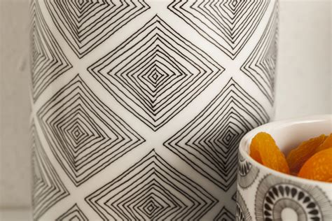 Kitchen Accessories Black And White by Black And White Kitchen Accessories In Funky Geometric