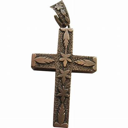 Cross Pendant Victorian 10k Antique Ruby
