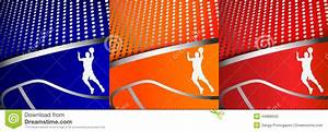 Three Colorful Abstract Basketball Backgrounds Stock ...