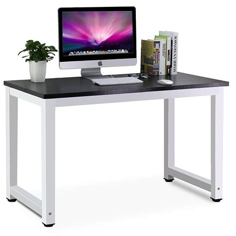 simple home office desk tribesigns modern simple style computer desk pc laptop