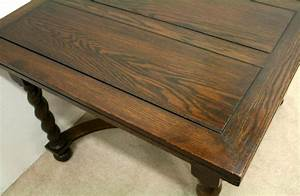 Antique, Oak, Pull, Out, Dining, Table