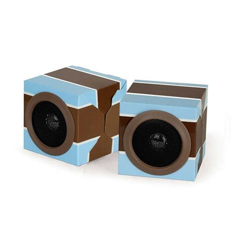 powerbank set portable mini foldable cardboard paper speaker for promotion