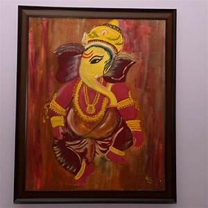 Ganesha Oil Painting-Online Shopping-