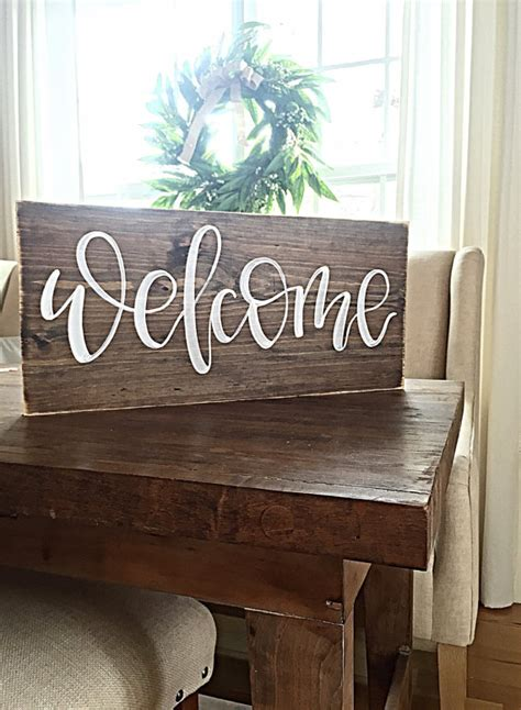 welcome home interiors welcome wooden sign home decor rustic outdoor welcome