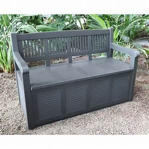 2 sitzer gartenbank mit aufbewahrungsbox kissentruhe With französischer balkon mit garten aufbewahrungsbox