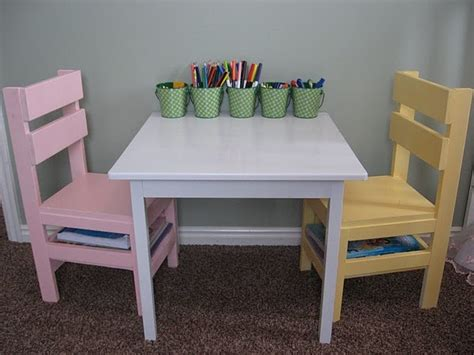 play table and chairs diy kid table chairs