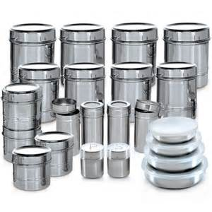 kitchen storage canister buy branded 44 pcs stainless steel storage set at