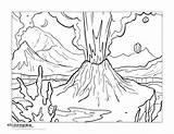 Volcano Coloring Pages Getdrawings Getcolorings Printable Colorings sketch template