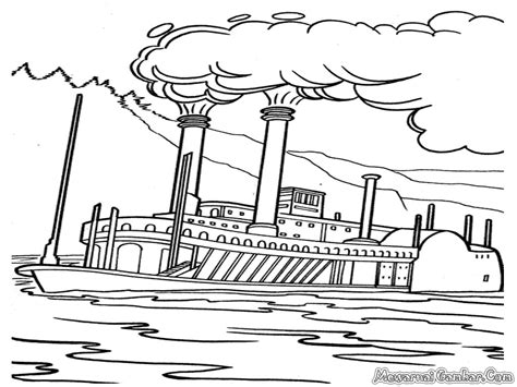 Sketsa Gambar Kendaraan Laut Sobsketsa