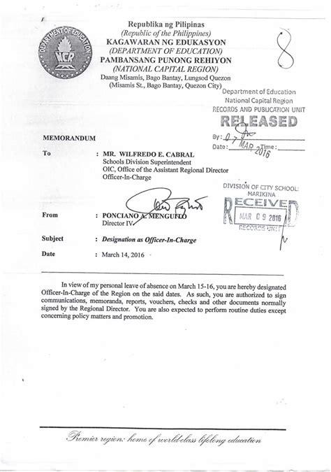 designation   wilfredo  cabral  oic teacherph