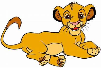 Lion Simba King Clipart Clip Cartoon Disney