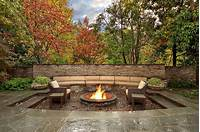 outdoor fire pit design Outdoor Living Spaces by Harold Leidner