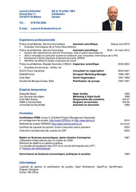 commis de cuisine suisse cv laurent schenker