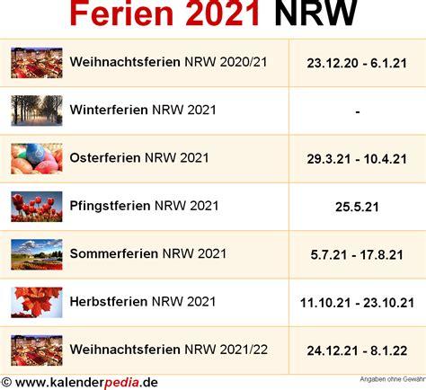 ferien nordrhein westfalen nrw uebersicht der ferientermine