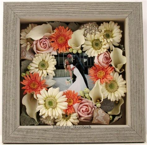 preserved bouquet  shadowbox  wedding photo
