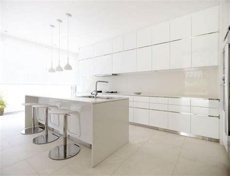 minimalist kitchen island 50 id 233 es d 238 lot central cuisine blanc de design moderne 4143