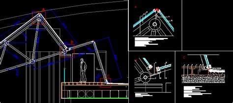 roof  glass dwg section  autocad designs cad