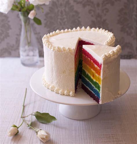 recette rainbow cake layer cake arc en ciel facile