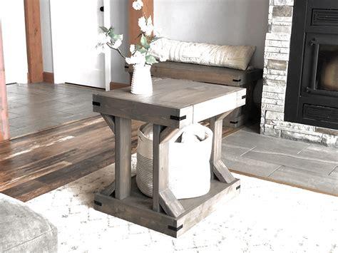 side table modern farmhouse collection ana white