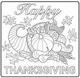 Feast Thanksgiving Coloring Getcolorings sketch template