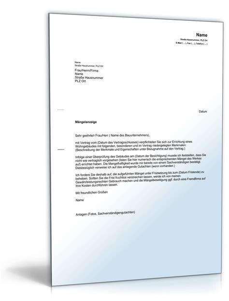 Maengelruege Und Maengelbeseitigung by Fristsetzung Musterbrief