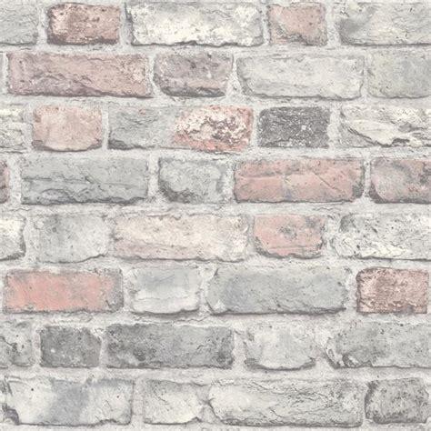 grandeco life wallpaper vintage brick pastel